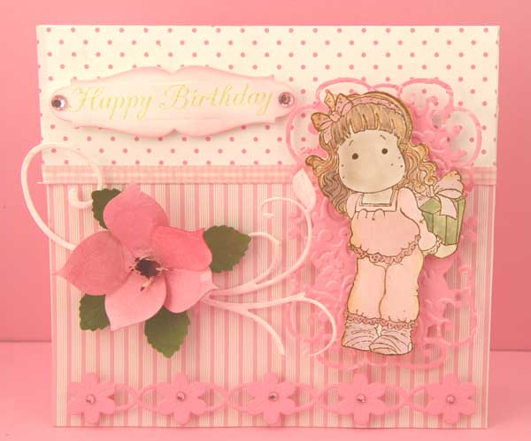 This Card Is Another 6x55 My Favorite Size And The Paper From Scrap Drawer Cheery Lynns Flower Chain Border Shown At Bottom