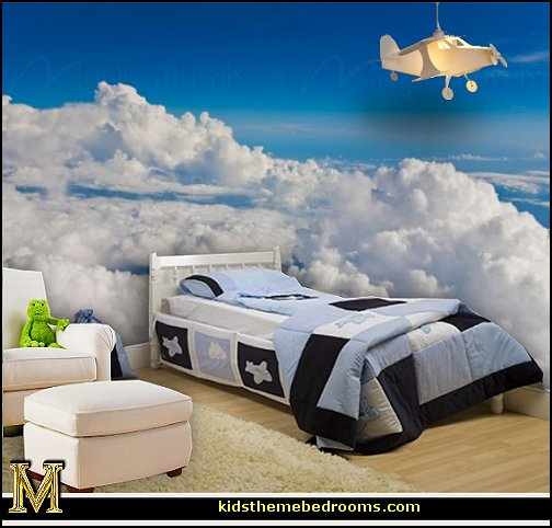 Decorating theme bedrooms maries manor cloud theme for Aviation decoration ideas