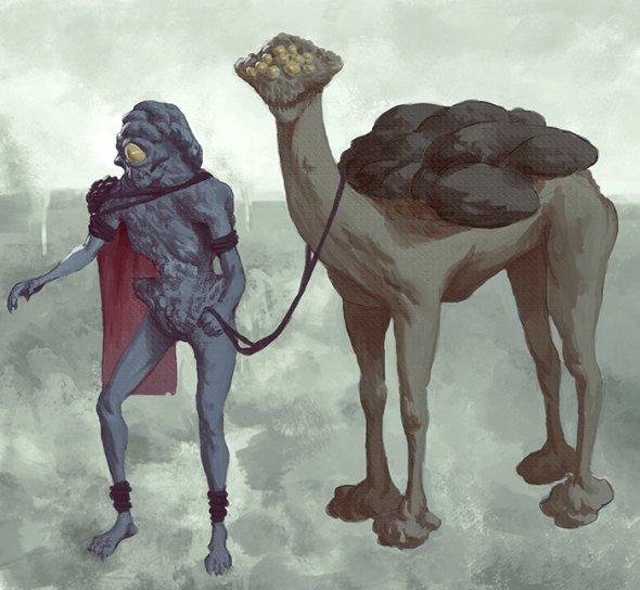 Alan Linnstaedt artstation ilustrações fantasia surreal sombrio bizarro arte