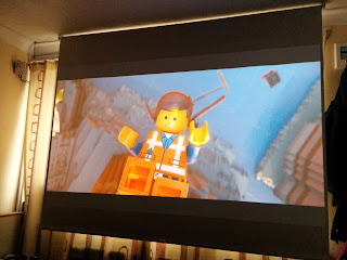 The Lego Movie on our Home Cinema