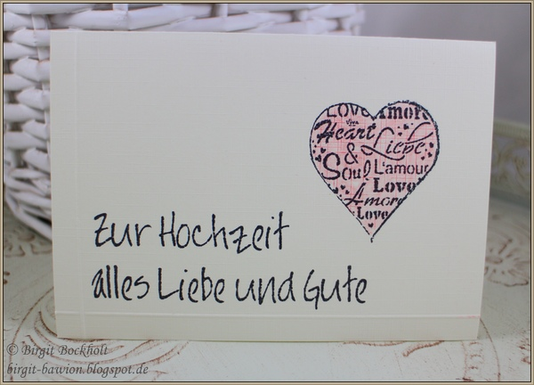 Glückwunschkarte zur Hochzeit
