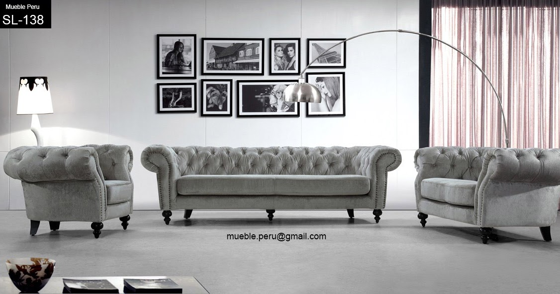 Mueble peru muebles de sala con capiton for Muebles de sala rosen