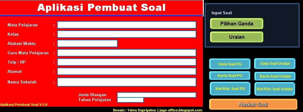 Software Soal Aplikasi Excel Free Download