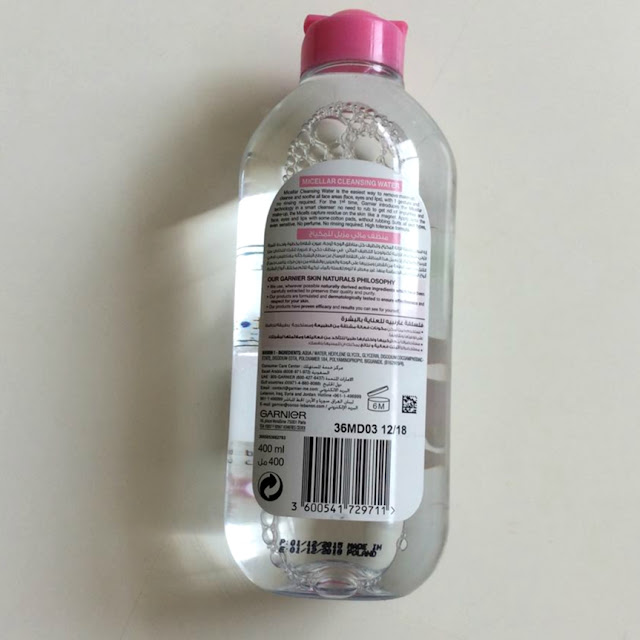 micellar water, garnier micellar cleansing water, packaging, sturdy, price, bioderma