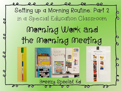 Morning Meetings for Special Education