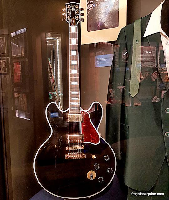 Lucille, a guitarra favorita de BB King, no Blues Hall of Fame, em Memphis