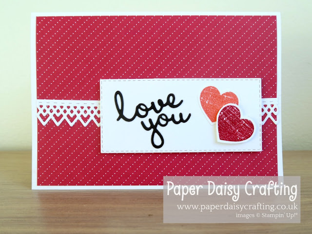 Well written Valentine's card Stampin Up