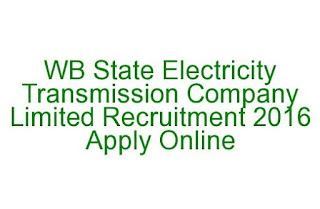 WB State Electricity Transmission Company Limited Recruitment 2016 Apply Online