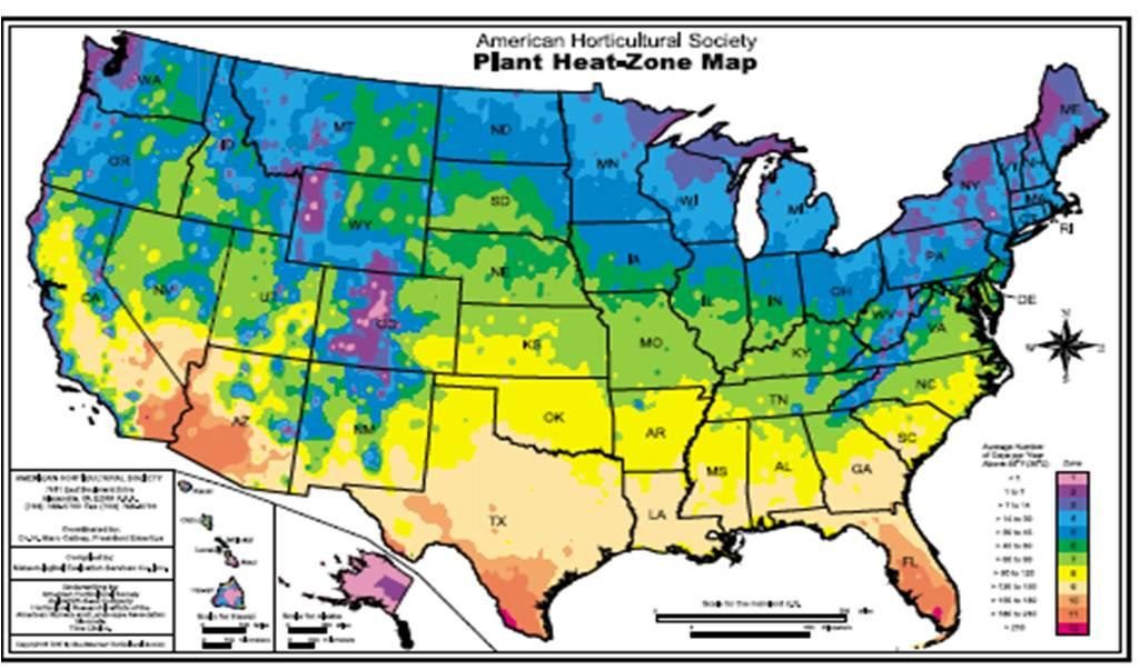 Ahs Plant Heat Zone Map