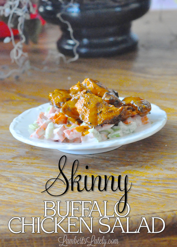 Recipe for a skinny buffalo chicken salad...tons of flavor without tons of calories!