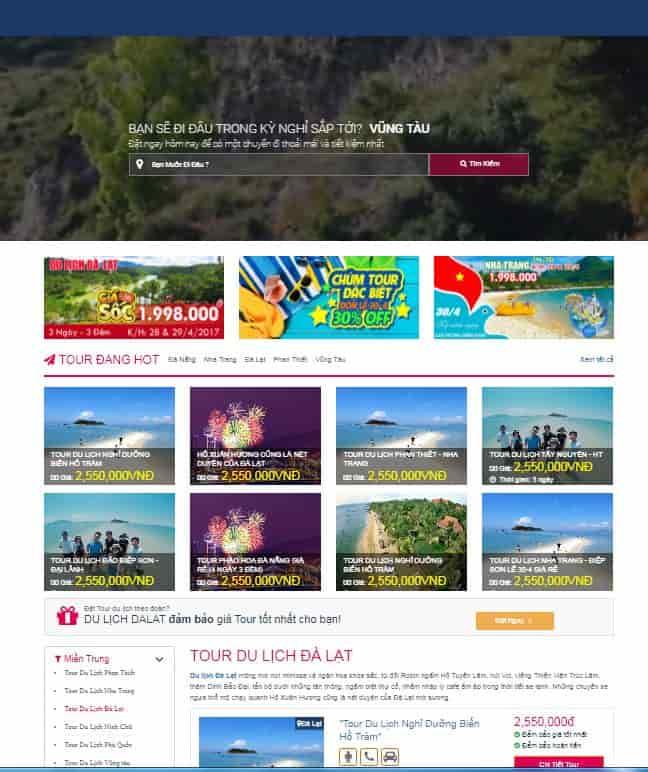 Theme blogspot tour du lịch đẹp responsive