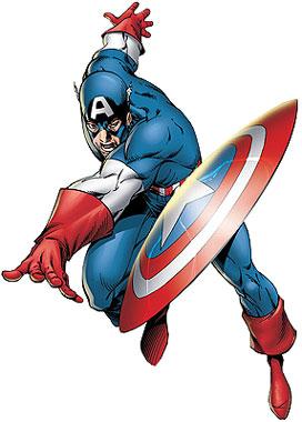 Dibujo del Capitán América para niños a colores