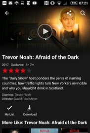 Watch Trevor Noah: Afraid of the Dark Online Free 2017 Putlocker