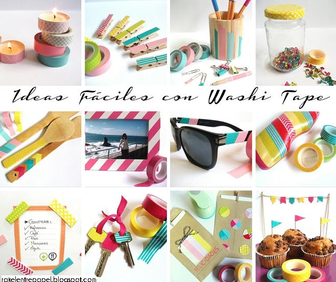 Raquel entre papel 12 ideas faciles para decorar con washi tape - Decorar con washi tape ...