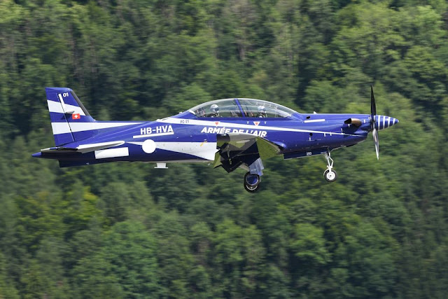 French Pilatus PC-21 first flight