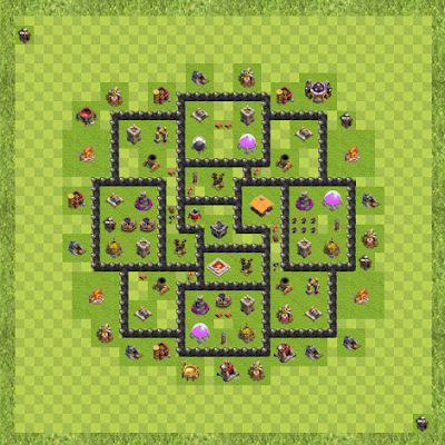 War Base Town Hall Level 8 By Christian Marquez (GGJO TH 8 Layout)