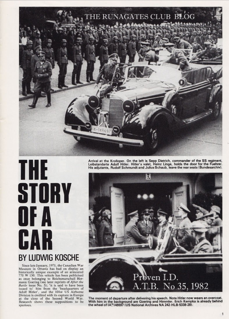 The Story of a Car - by Ludwig Kosche, AFTER THE BATTLE No. 35, 1982