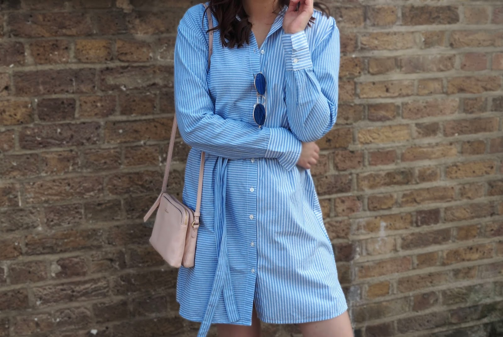 Lauren Rose Style Blue Striped New Look Summer Dress OOTD Fashion Blogger London