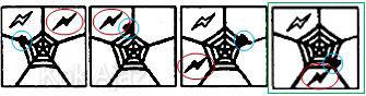 Pembahasan Soal Figural No. 42 TKPA SBMPTN 2016 Kode Naskah 602, pola gambar: bergerak berlawanan dan searah jarum jam