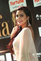 Prajna Actress in backless Cream Choli and transparent saree at IIFA Utsavam Awards 2017 0063.JPG