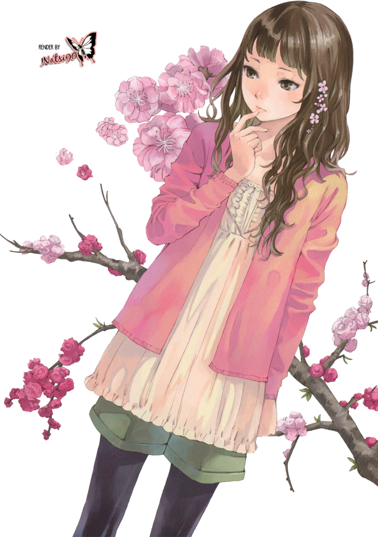 Render anime flower girl