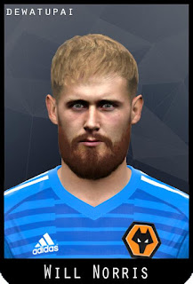 PES 2017 Faces Will Norris by Dewatupai