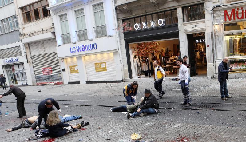 serangan dan letupan di istanbul