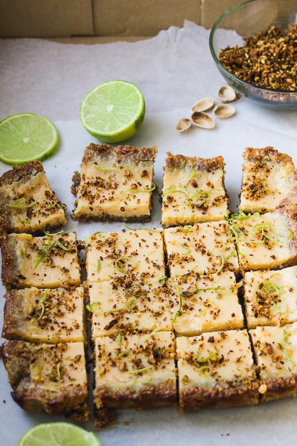 Lime Bars with Candied Pistachios thisisasweetblog.blogspot.com