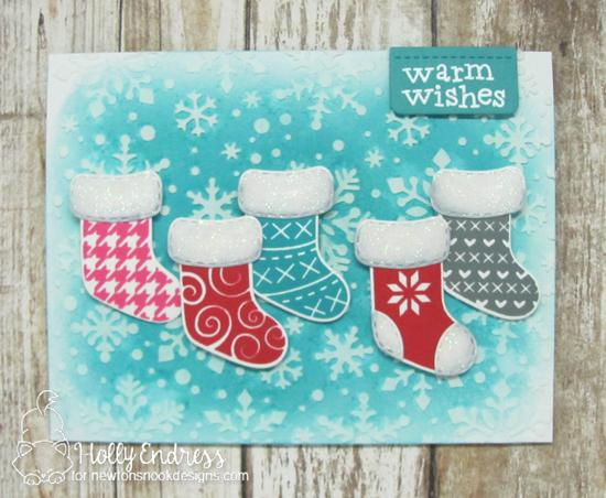 Christmas Stockings Card by Holly Endress | Stylish Stockings Stamp Set by Newton's Nook Designs #newtonsnook #handmade