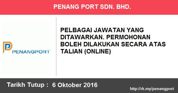 Jawatan Kosong di Penang Port Sdn. Bhd.