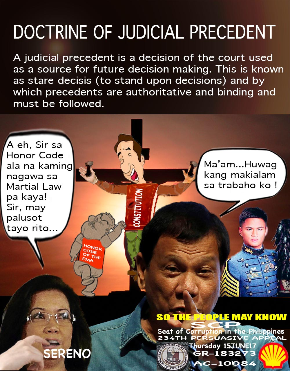 doctrine of judicial precedent Precedent literally means a rule followed or a principle applied previously by a competent authority under similar facts and circumstances if a previous decision by a court is taken as a basis or source for deciding the case under similar facts and circumstances, it is called judicial precedent.