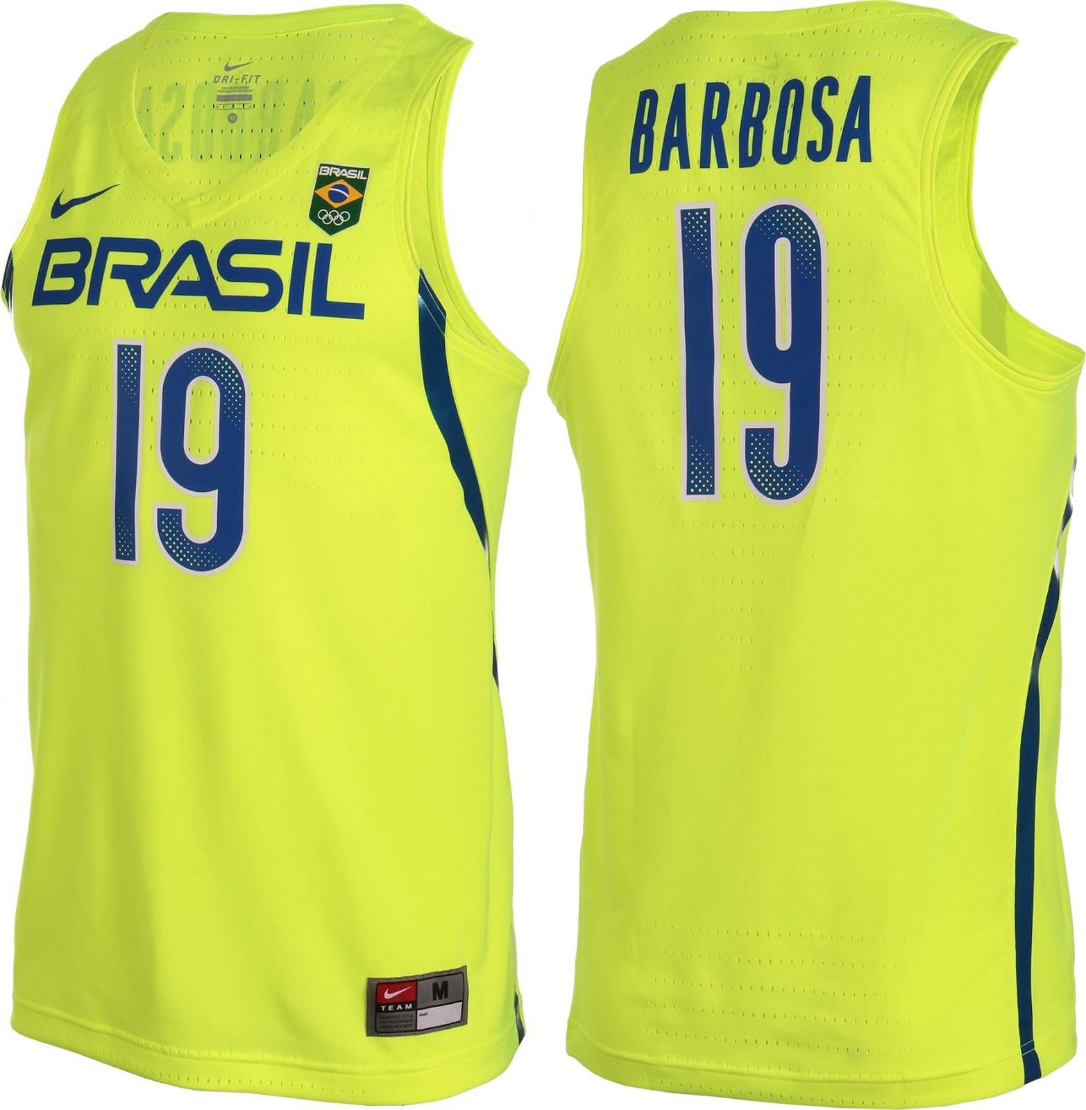0a03e8aa56a63 A Nike divulgou os uniformes de basquete que o Brasil ( Time Brasil )  utilizará nos Jogos Olímpicos do Rio de Janeiro 2016. A camisa titular será  amarelo ...