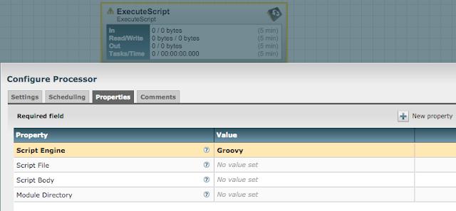 Fun with Apache NiFi: ExecuteScript processor - Hello World!