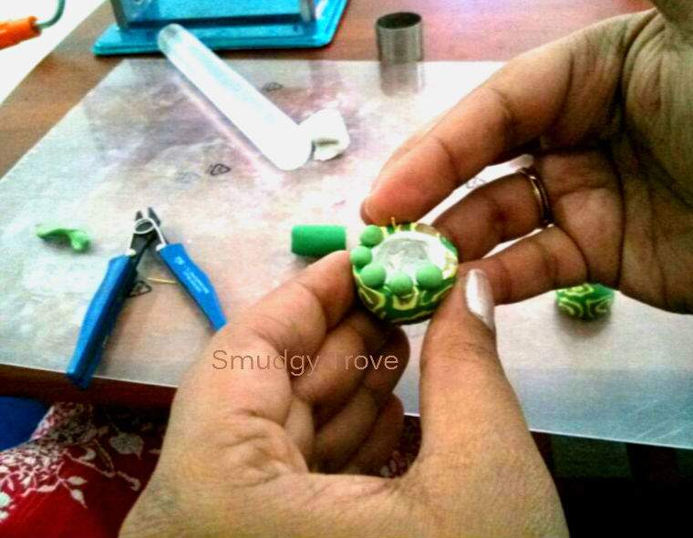 how to make polymer jhumka