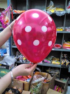 Balon Dekorasi Polkadot Merah