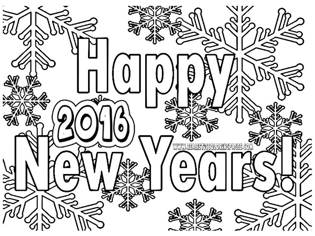 new years coloring pages printable 2016
