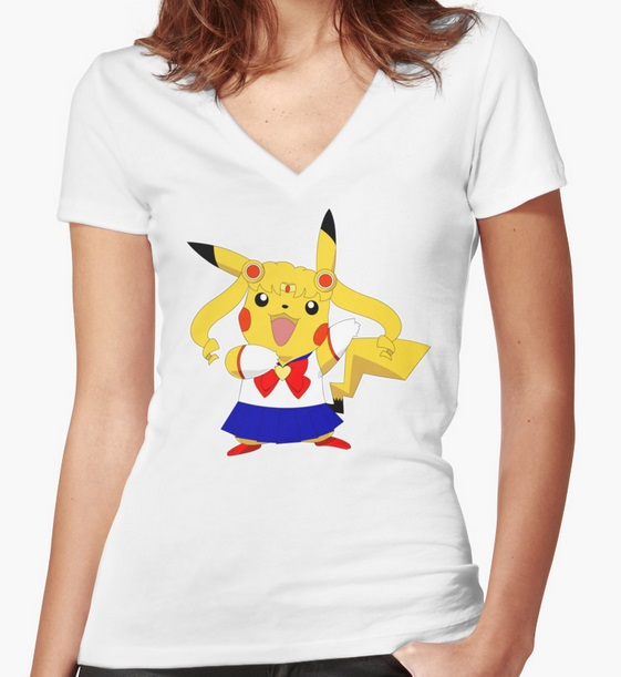 Sailor Moon Sailor Pikachu shirt