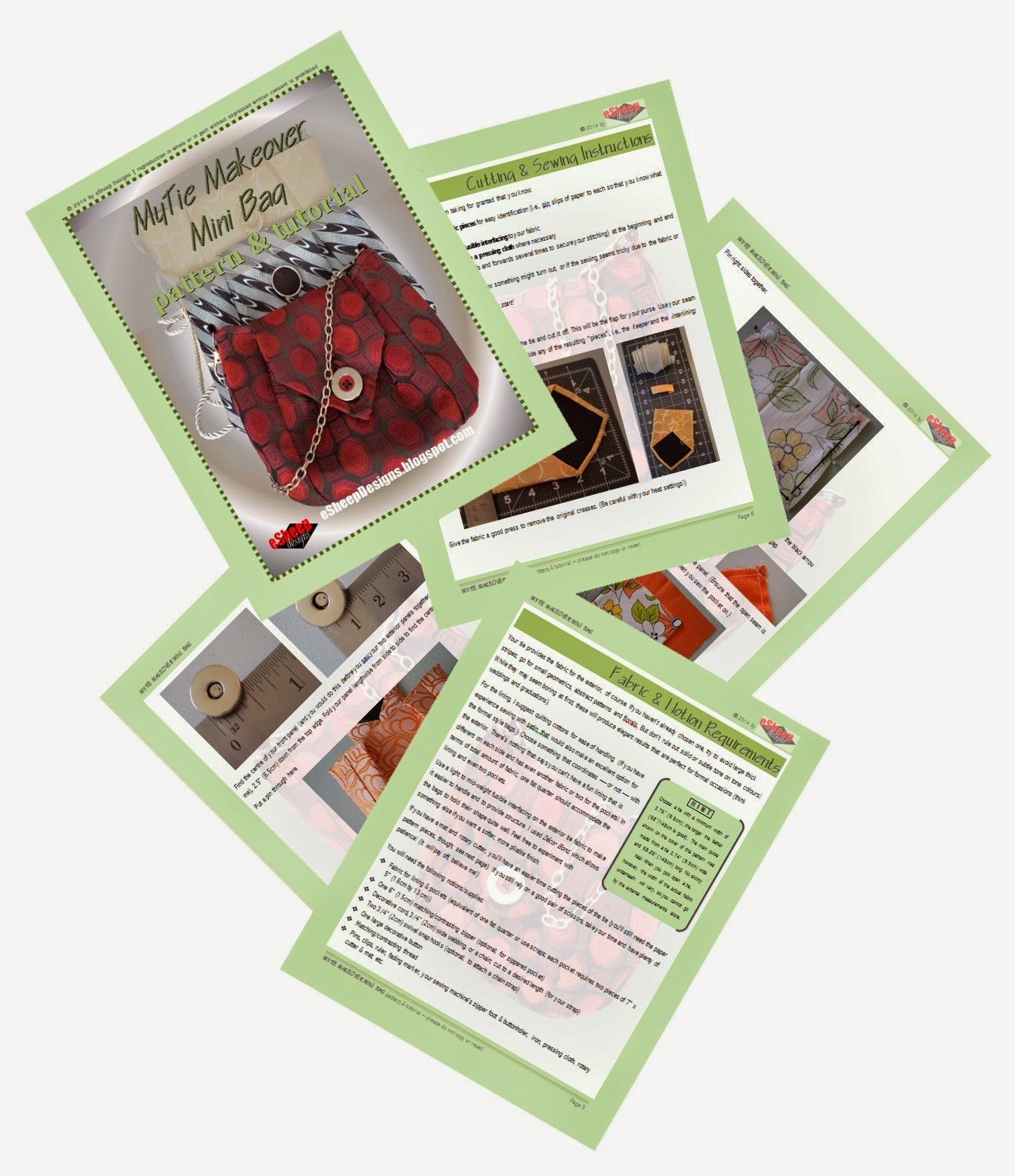 MyTie Makeover Mini Bag Pattern by eSheep Designs