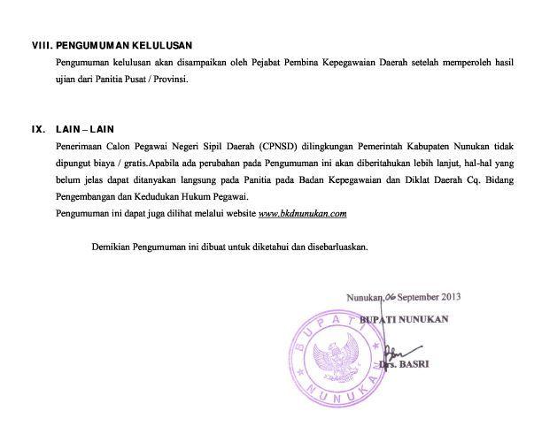 Cpns Denpasar Bursa Lowongan Kerja Informasi Terbaru Loker Cpnsd 2013 Kabupaten Nunukan Lowongan Kerja Cpns Dan Bumn
