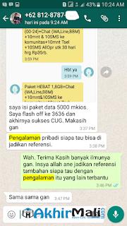 Restriksi Paket CUG Data 35K dan CUG Data 20K MKIOS DATA