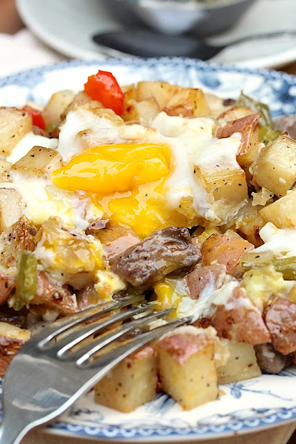 Sheet Pan Home Fries with Steak and Eggs