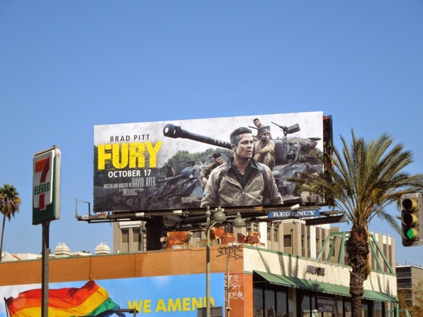 Fury film billboard