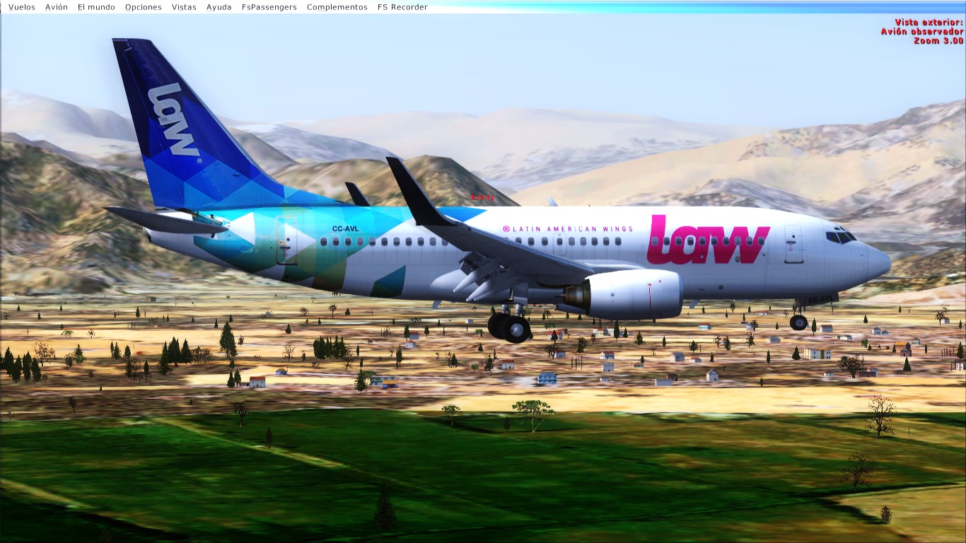 FlyRepaints : TDS-Boeing 737-700WL LAW Latin American Wings CC-AVL