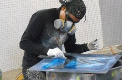 xử lý khí thải bụi sơn