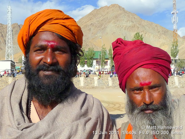Facing the World, © Matt Hahnewald, people, Hinduism, sadhu, Indian man, Ladakh, Leh, portrait, street portrait, double portrait, Ladakhi polo