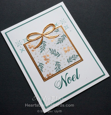 Heart's Delight Cards, Peaceful Noel, Quick & Easy, Christmas Card, Stampin' Up!
