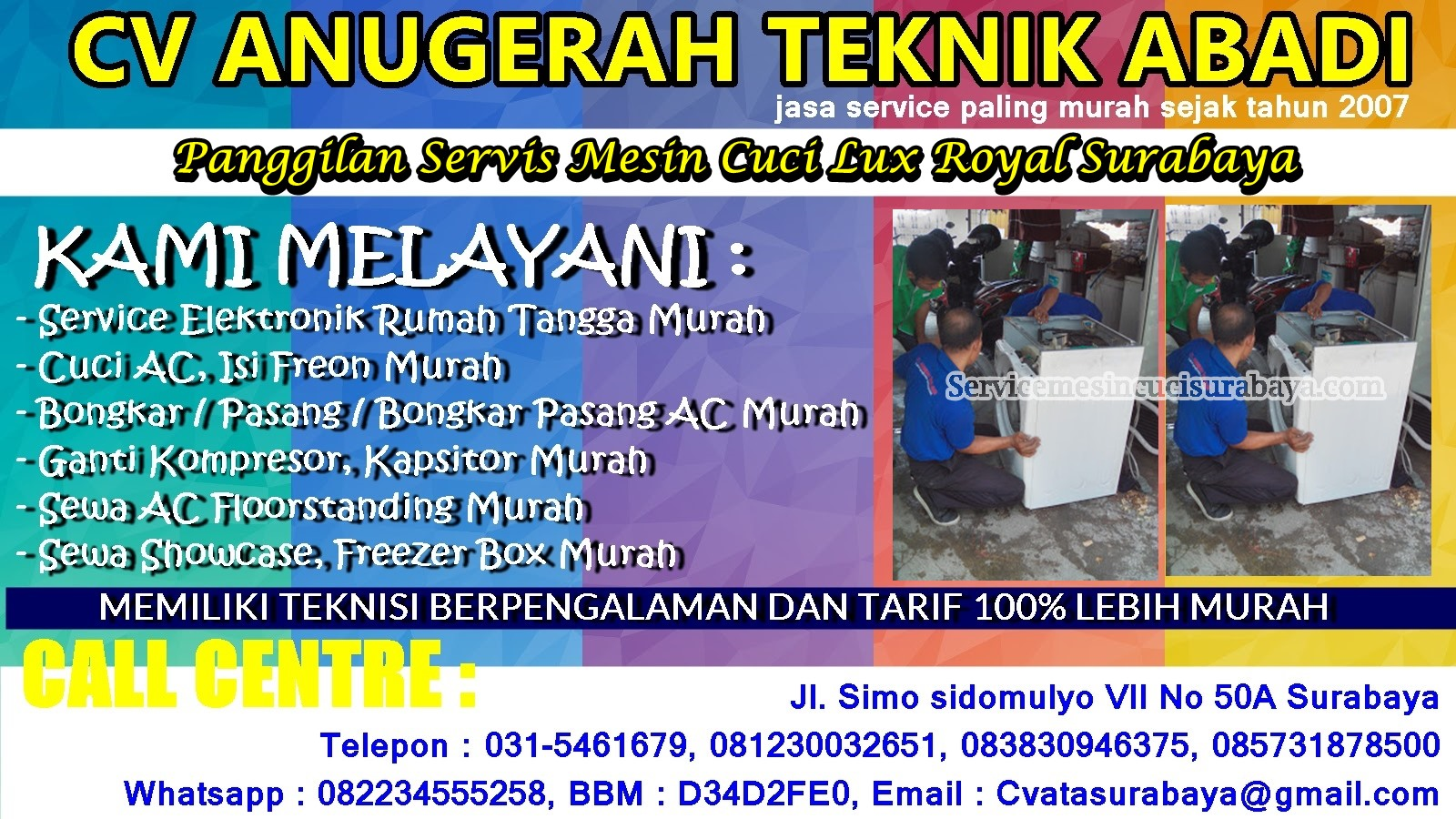 Service Mesin cuci Electrolux - Lux Royal