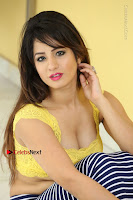 Cute Telugu Actress Shunaya Solanki High Definition Spicy Pos in Yellow Top and Skirt  0426.JPG