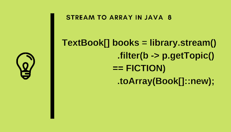 Stream to an Array using a Method Reference