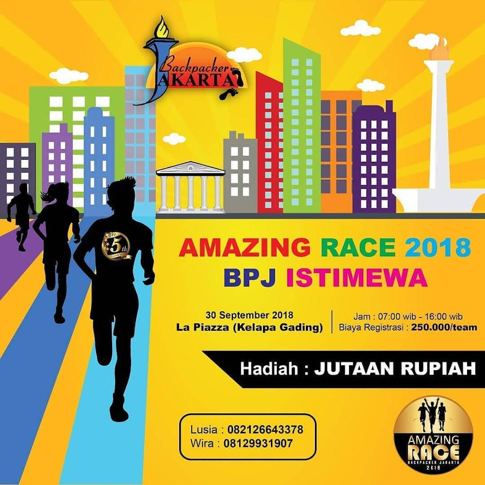 Amazing Race - Backpacker Jakarta • 2018